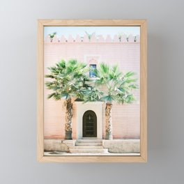 "Travel photography print ""Magical Marrakech"" photo art made in Morocco. Pastel colored. Framed Mini Art Print"