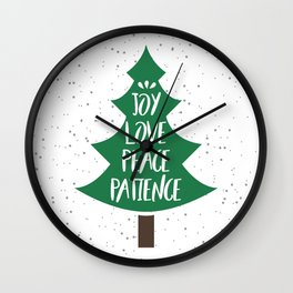 Tree of Christmas Present Wall Clock