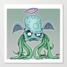 Space Alien Sci Fi art by RonkyTonk Canvas Print