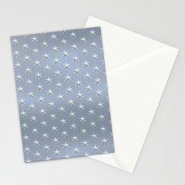 elegant silver star pattern Stationery Cards