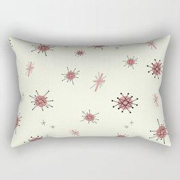 Mid Century Atomic Starburst Pink Pattern Rectangular Pillow