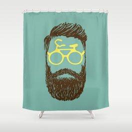 Hipster Biker Shower Curtain