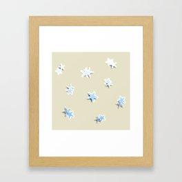 Shiny little stars Framed Art Print