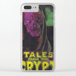 Tales From The Crypt With Text Logo Trademark Clear iPhone Case