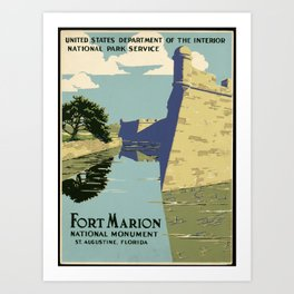 Fort Marion National Monument, St. Augustine, Florida Art Print