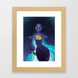 Zodiac Mermaid Framed Art Print