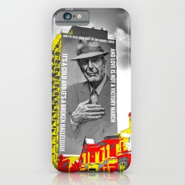 Leonard Cohen Mural Montreal Digital Paint on Photo iPhone Case
