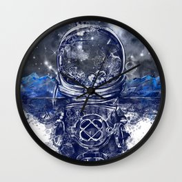 galaxy landscape Wall Clock