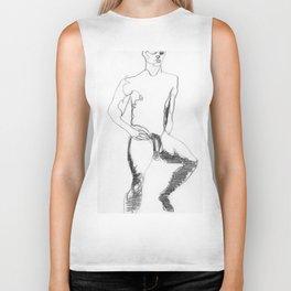 Male Nude Figure Drawing Study Biker Tank