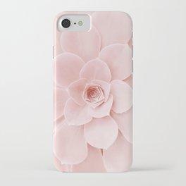 Blush Succulent iPhone Case