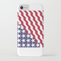 american flag iPhone & iPod Cases featuring American Flag by Mychal Diaz