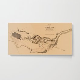 Map of Potomac River 1838 Metal Print