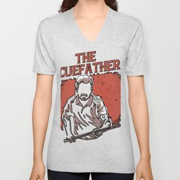 The Cuefather Pool Player Billiards Unisex V-Neck
