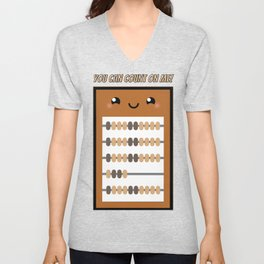 You Can Count On Me - Kawaii Friendship Abacus Unisex V-Neck