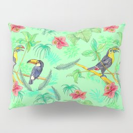 Watercolour Toucans Pillow Sham