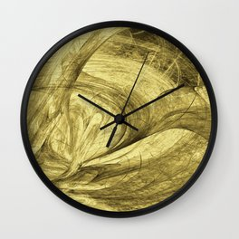 Flying threads of gold Wall Clock