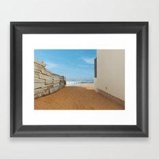 Meditation Beach Framed Art Print