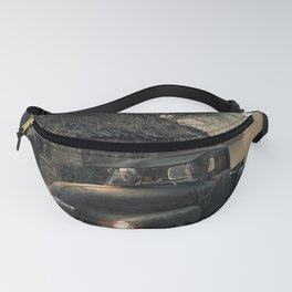 old car-old house-dust-light-motor-vehicle Fanny Pack