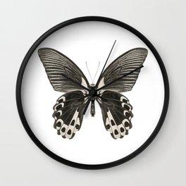 Mono Scarlet Mormon Butterfly Wall Clock