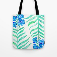 Blooming Orchid – Mint & Blue Palette Tote Bag