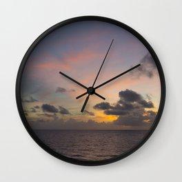 Palm Beach Sunrise Wall Clock