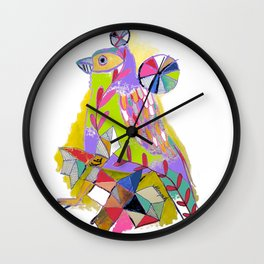COLOR ME BIRDY Wall Clock