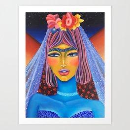 Blue Bride Art Print