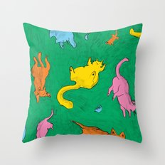 Charming Cats Throw Pillow