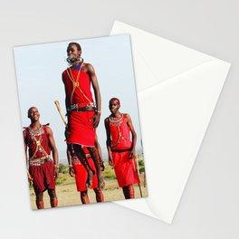 Warrior Dance in Nairobi, Kenya Stationery Cards
