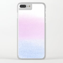 Trans Watercolor Wash Clear iPhone Case