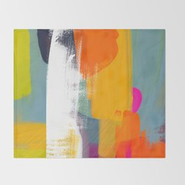 color study abstract art 2 Throw Blanket
