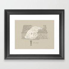 Oh carp. Framed Art Print