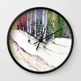 4 Season Watercolor Collection - Winter Wall Clock