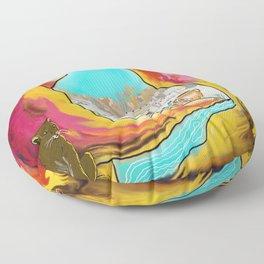 Modern Desert Art Floor Pillow