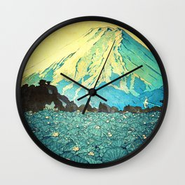 Waddling through Kennijo Lake Wall Clock