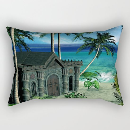 The  forgotten island Rectangular Pillow
