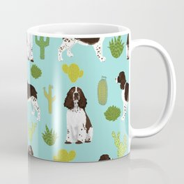 English Springer Spaniel southwest desert cactus pattern by pet friendly Coffee Mug