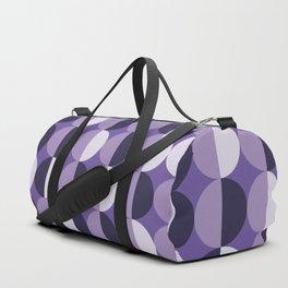 Retro circles grid purple Duffle Bag