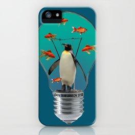 Bulb Penguin goldfishes - Illustration iPhone Case