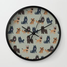BELGIAN DOGS Wall Clock