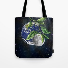 Full moon and Earth Tote Bag