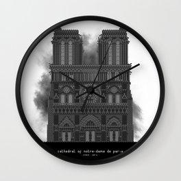 HexArchi - France, Paris, Cathedral of Notre Dame de Paris Wall Clock