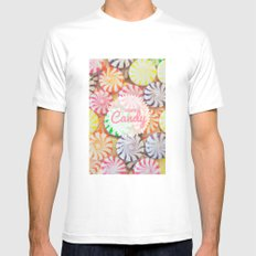 I Want Candy White MEDIUM Mens Fitted Tee