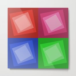 Abstract set of multicolored squares Metal Print