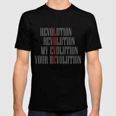 My Evolution, Your Revolution Black Mens Fitted Tee MEDIUM
