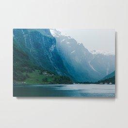 Moody Fjord in Norway | Scandinavia Travel | Europe Adventure Photography Metal Print