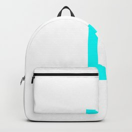 LETTER L (CYAN-WHITE) Backpack