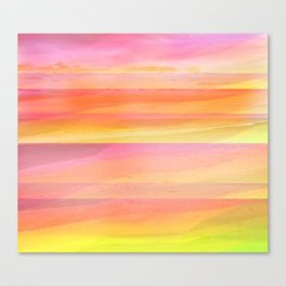 Seascape in Shades of Yellow and Peach Canvas Print