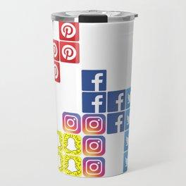 Social Media Tetris Travel Mug