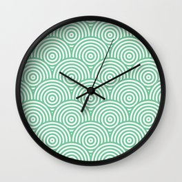 Scales - Green & White #353 Wall Clock
